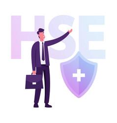 Health safety environment industrial concept vector