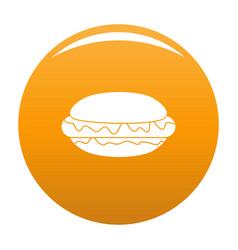 hot dog icon orange vector image