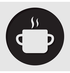 Information icon - cooking pot with smoke vector