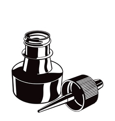 ink bottle vector image
