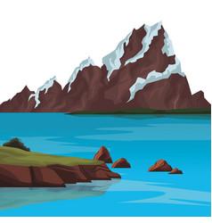 Landscape nature scenery vector