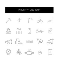 line icons set industry pack vector image