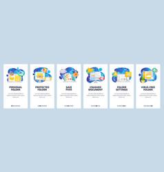 mobile app onboarding screens business computer vector image