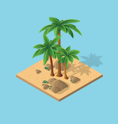 Natural desert landscape vector