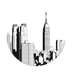 New york city view - empire state building vector