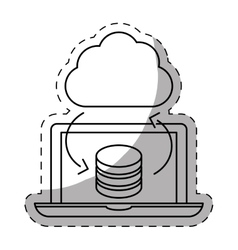 Optimization database icon image design vector