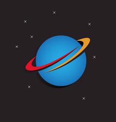 Orbit logo design template vector