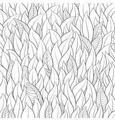 Outline leaf background vector image