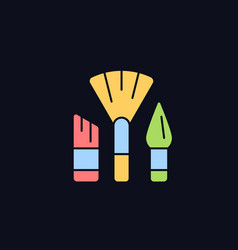 Paintbrushes rgb color icon for dark theme vector