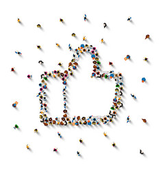 people in the heap in the form of a symbol vector image