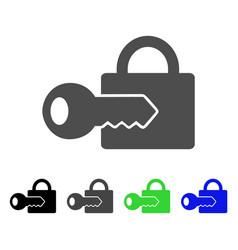 Registration key flat icon vector