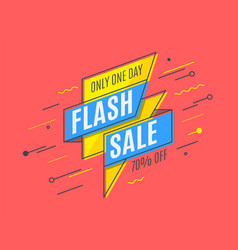 Retro-futuristic promotion banner scroll price vector