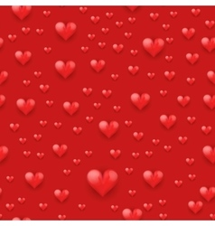 Seamless pattern beautiful red heart vector image