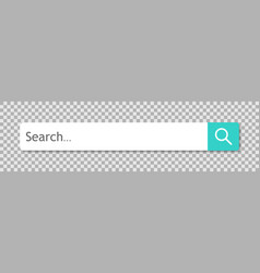 search bar with button with shadow isolated on vector image