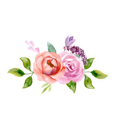 Set of the floral arrangements vector