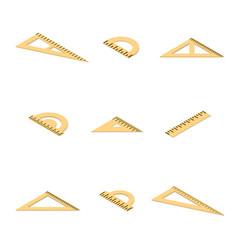 set of various drawing tools vector image