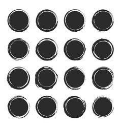 set shape circle grunge badge labels vector image