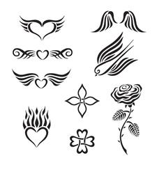 Set tribal tattoo vector