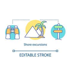 Shore excursions concept icon vector