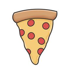 Slice pepperoni pizza design icon vector