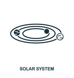 solar system icon flat style icon design ui vector image
