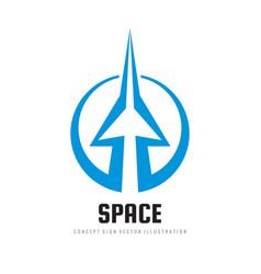 Space - concept logo template vector