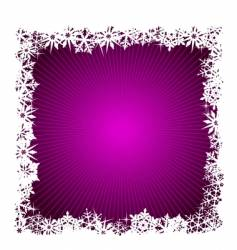 square purple snowflake background vector image