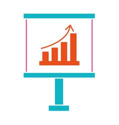 statistics graphics cartoon vector image