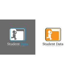 Student data logo kids data icon can for use vector