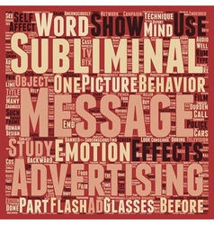 Subliminal Messages text background wordcloud vector