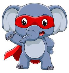 Super hero elephant cartoon vector
