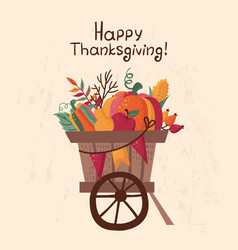 Thanksgiving autumn card with vegetables vector