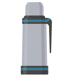 Thermo bottle stainless water flask vector