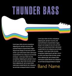 Thunder Bass colorful artwork vector image