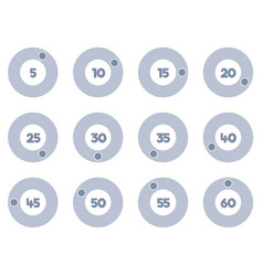 timer icons set stopwatch icons vector image