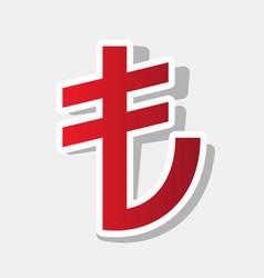 turkiey lira sign new year reddish icon vector image