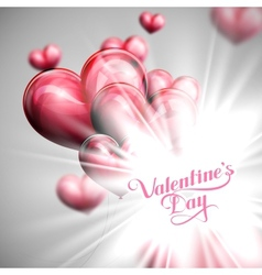 Valentines Day label on the festive red balloon vector