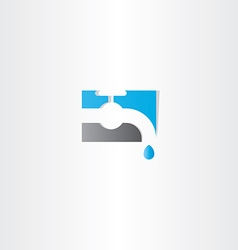 water tap logo icon vector image