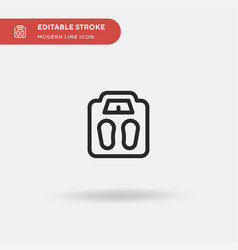 weight scale simple icon vector image
