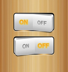 White realistic switch vector