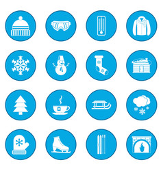 winter icon blue vector image