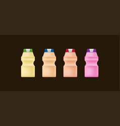 yakult-4 flavors collection vector image