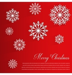 Abstract design with Snowflakes and Merry vector image vector image