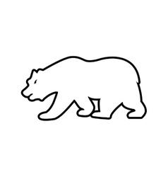 Bear animal silhouette icon graphic vector