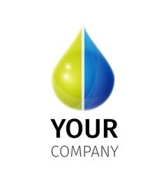 eco logo design vector image