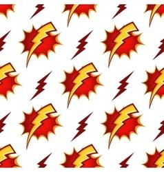 Lightning bolts seamless pattern in retro vector image