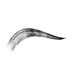 make-up cosmetic mascara brush stroke on white vector image vector image