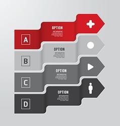 Modern infographics design options banner vector image