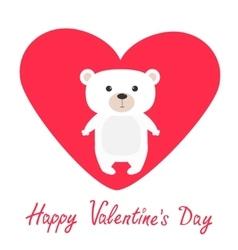 Arctic polar bear cub Cute cartoon character vector image vector image