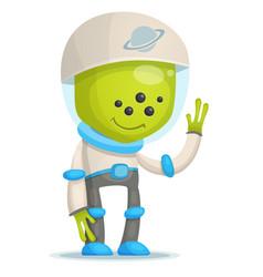 cartoon alien vector image vector image